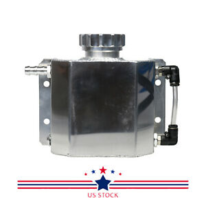Universal Aluminum Radiator Coolant Overflow Bottle Recovery Watertank Reservoir