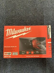 Milwaukee 2571 20 M12 12v Lithium ion Cordless Auger Snake Drain Cleaning Kit