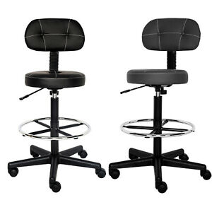 Office Drafting Chair Detachable Mid Back Counter Height Bar Stool Swivel Chair