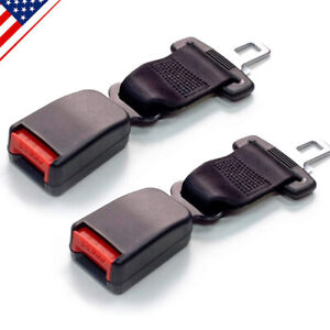 2pcs Safety Seat Belt Extender 7 Inch Retractable Seatbelt Extension Car Seat