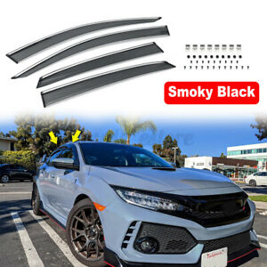 For Honda Civic 16 20 Hatchback Clip On Real Mugen Style Side Vent Window