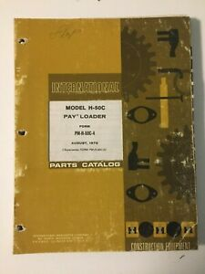 Ih International Hough 50c Front end Wheel Pay Loader Tractor Parts Catalog List