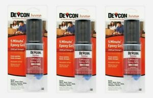 3 devcon 5 Minute Epoxy Gel Cream 0 84oz Cures Quick 2500 Psi Holds Strong 21045