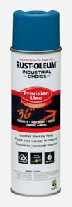 Rust oleum Blue Industrial Choice Precision Line Field Marking 17 Oz 203022 New
