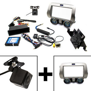 Pac Rpk5 Gm4101 Chevy Camaro Integrated Radio Replacement Kit With Back Up Cam