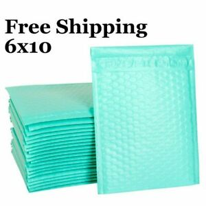 0 6x10 6x9 teal Poly Bubble Mailer Padded Envelope Shipping Bag 25 50 100 250