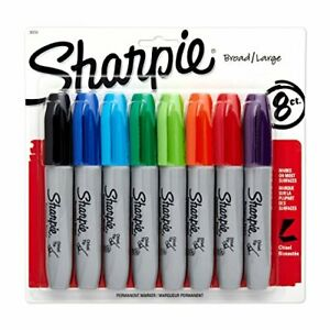 Sharpie Chisel Tip Permanent Marker Assorted Colors 8 pack 38250pp