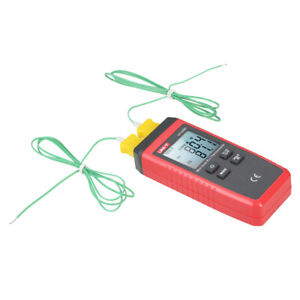 Uni t Mini Lcd Digital Thermometer 2 channel Type K j Thermocouple Sensor H9k3