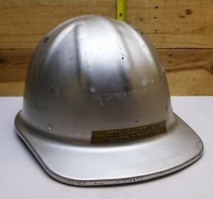 Vintage Mcdonald T Aluminum Hard Hat Mine Safety Appliances Co