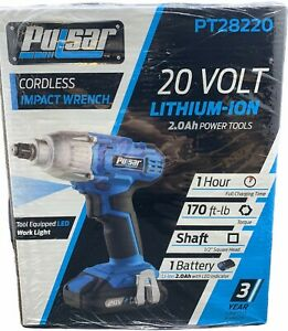Pulsar 20v Cordless Lithium Ion Impact Wrench Pt28220 170ft Lb