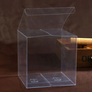 50pcs Clear Plastic Pvc Packing Box Transparent Candy Box For Gift Wedding Party