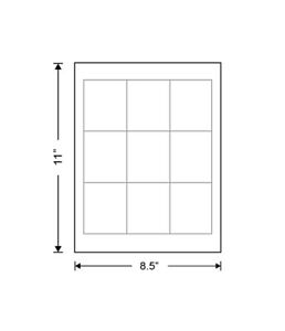 Waterproof Polyester Blank 2 5 X 3 Or 3 X 3 White Labels For Laser Printer