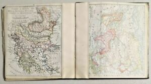 Antique 1899 World Map With 48 States By Rand Mcnally Co Very Rare 3290