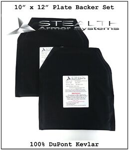 Two 10 x 12 Level 3 A plate Backer Set Made With 100% DuPont Kevlar 100% USA $119.95