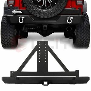 Rear Bumper W Tire Carrier Hitch Receiver For 87 96 Yj 97 06 Tj Jeep Wrangler