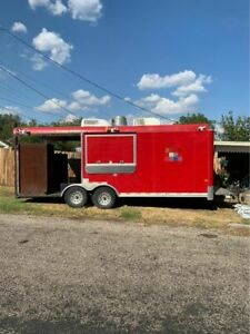2009 9 X 28 Barbecue Rig Food Concession Trailer With Porch For Sale In Texa