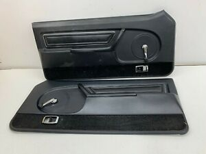 1979 1980 Oem Ford Mustang Black Front Door Panels S7892