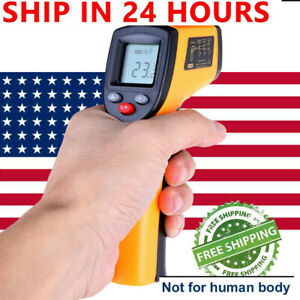 Portable Digital Thermometer Infrared Temperature Gun Non Contact Ir Laser Point