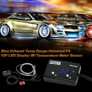 Digital Car Exhaust Gas Temp Gauge Led Pointer Egt With Temperature Meter Sensor