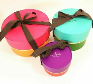 Kate Spade Set Of 3 Jewelry Gift Boxes For Storing Necklaces Bracelets Nwot
