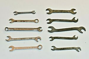Vintage Open Ended Wrenches Lot Of 10 Craftsman Meteor