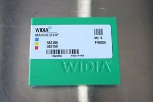 5 New Widia Manchester 583159 Tn6026 Grooving parting Carbide Inserts 581 159