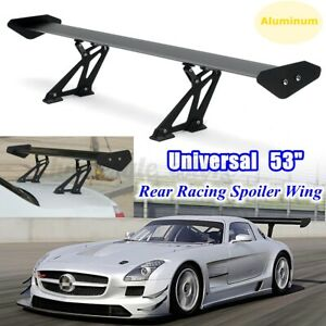 Universal 53 Aluminum Black Adjustable Gt Style Rear Car Trunk Spoiler Wing Usa