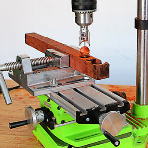 Milling Machine Compound Working Table Cross Bench Drill Vise Fixture 2 Axis
