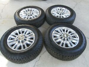 20 Chevy 2500 3500 Hd High Country Factory Oem Wheels Tires 275 65 20 10 Ply