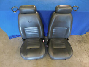 99 00 01 02 03 04 Ford Mustang Front Dark Charcoal Seat Set Seats Oem M56