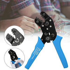 Crimping Tool Wire Crimper Plier Terminal Wire Connectors Ratcheting For Electri