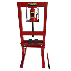 Heavy Duty 6 Ton Hydraulic Shop Press Benchtop With Plates H Frame Jack Stand