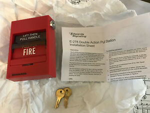 Edwards Est E 278 Dual Action Pull Station Fire Alarm New In Box