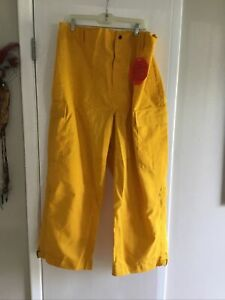 Yellow Nomex Pants Barrier Wear Wildland Forestry Brush Firefighting Nwt 3xl