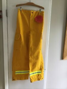 Yellow Nomex Pants Barrier Wear Wildland Forestry Brush Firefighting Nwt 34x30