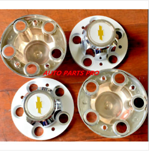 4pcs Chevrolet Chevy Gmc Truck 5 Lug 15 15x8 15x7 Rally Wheel Center Hub Caps