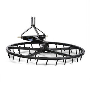 Titan Attachments 72 in Arena Spin Harrow Groomer Rake Category 1 3 point