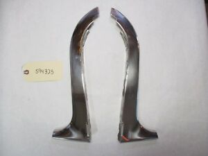 1959 1960 Chevy Sedan Or Wagon Exterior Windshield A Pillar Side Trim L r Oem