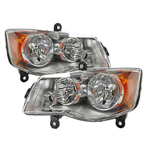 Headlights Lamp Lr Fit 2008 16 Chrysler Town Ampcountry 11 17 Dodge Grand Caravan Fits 2011 Chrysler Town Amp Country