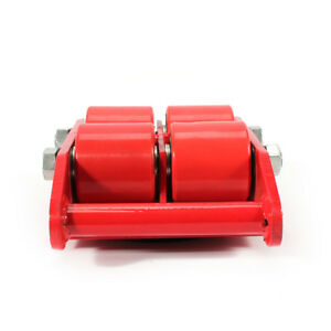 Heavy Duty Machine Dolly Skate Roller Machinery Mover W Rotation Cap 6t 13200lb
