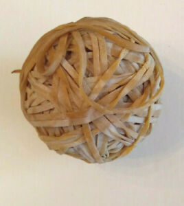Handmade Rubber Band Ball 3 9 5 Inch Circumference Very Old Fun Item
