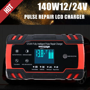 12v 24v 3 Stage Auto Smart Intelligent Lcd Car Battery Charger Pulse Repair Best