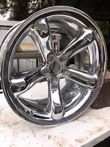 20x10 Inch Rear Wheel Rim Chrome 4865347aa Oem Plymouth Prowler 2000 02