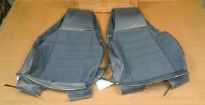 Nos Gm 87 88 89 Chevy Cavalier Dark Sapphire Blue Bucket Seat Back Cover Pair