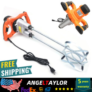 Portable Electric Mortar Mixer Cement Concrete Plaster Grout Drill Paddle 1600w