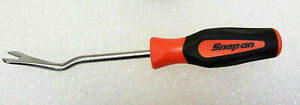 New Snap on Trim Pad Clips Removal Tool Orange Black Soft Grip Handle Asg186b