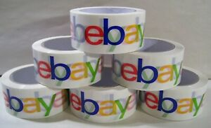 Lot Of 6 Ebay Logo Branded Shipping Tape Packaging Packing Each Roll 75 Yds X 2