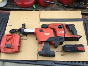 Hilti Te 6 a36 Rotary Hammer W Te Drs 6 a Vacuum Battery And Charger free Shp