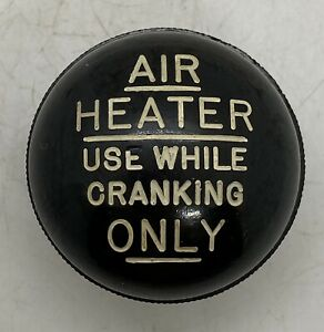 Old Antique Automobile Hot Rod Rat Rod Accessory Vintage Air Heater Shifter Knob