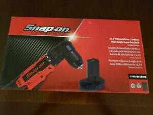 Snap On 14 4v Microlithium Cordless Right Angle Drill With Battery Cdrr761